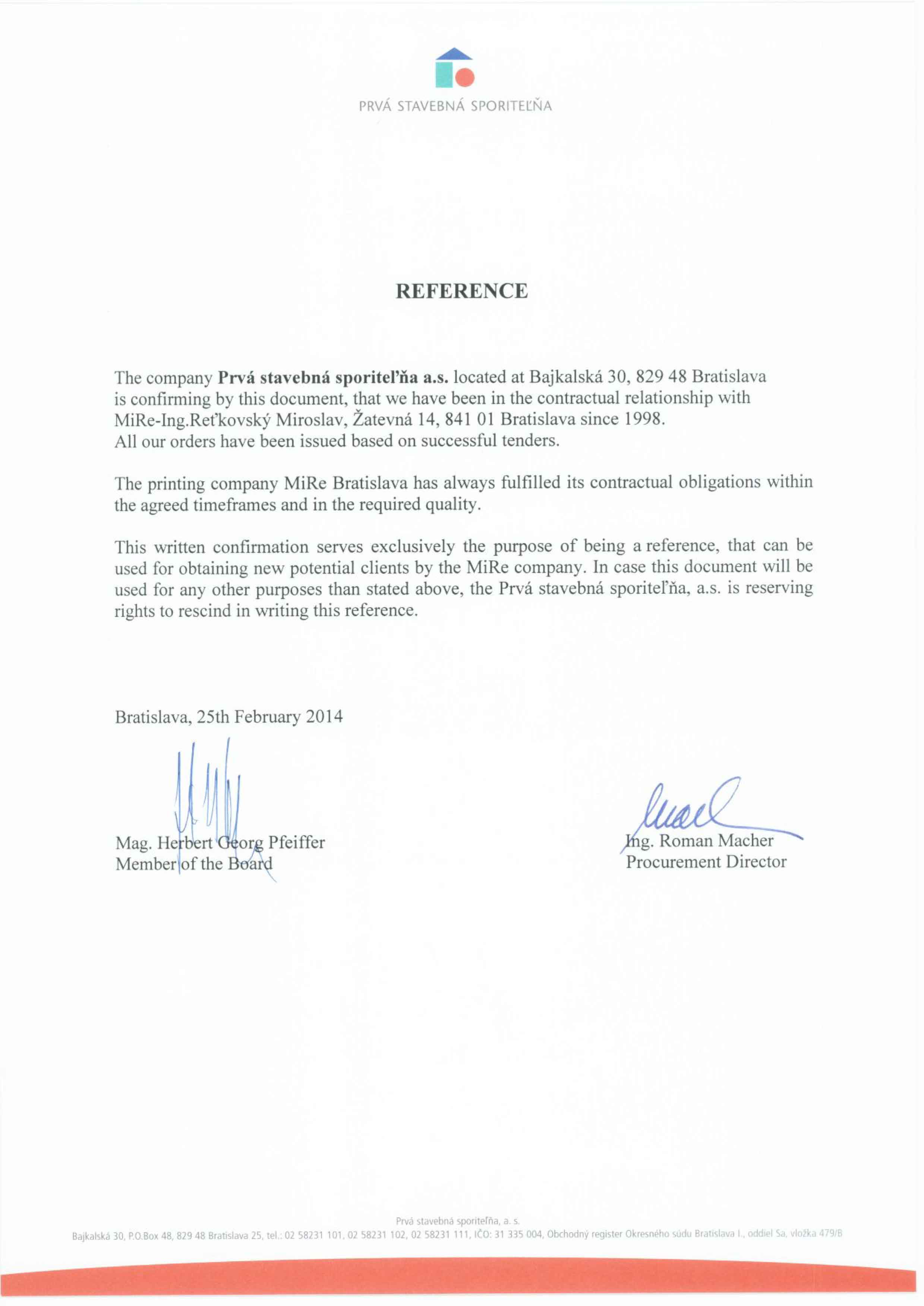 PSS Reference - MiRe - Printing Company Bratislava Slovakia MiRe ... 6db4150c635